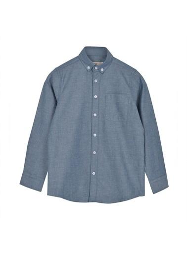 Silversun Kids Uzun Kol Cepli Önden Düğmeli Klasik Erkek Çocuk Gömlek Gc 316329 Lacivert